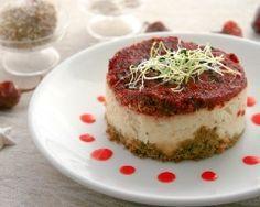 Cheese-cake chèvre et pesto de tomate