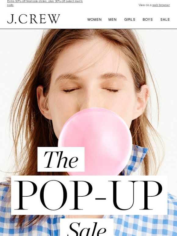 Our Pop-up Sale is back - 48 hours only - J.Crew