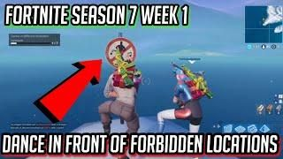 Dance In Front Of Forbidden Locations All 7 Locations Fortnite