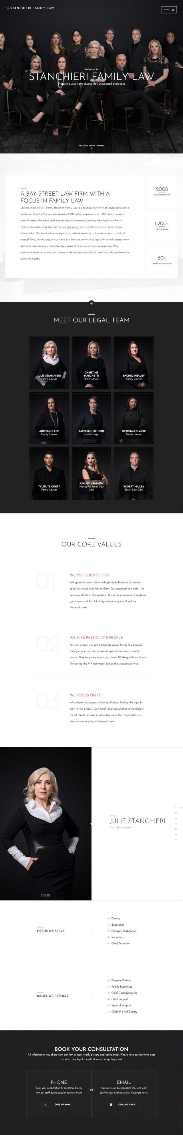 Stanchieri Family Law Lawyer Website Screenshot   Lawyer website ...
