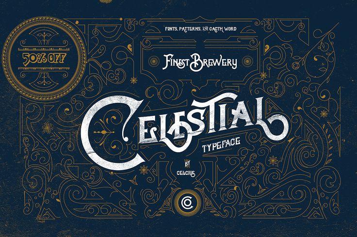 Celestial Fonts & Vintage Pattern ~ Display Fonts on Creative Market