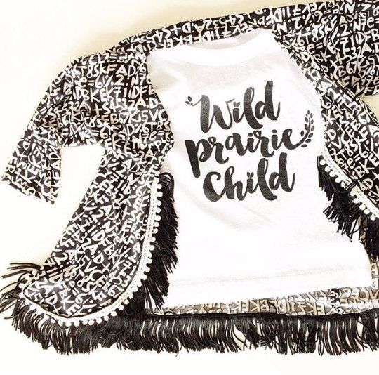 Toddler Alphabet Kimono by petiteprairie on Etsy