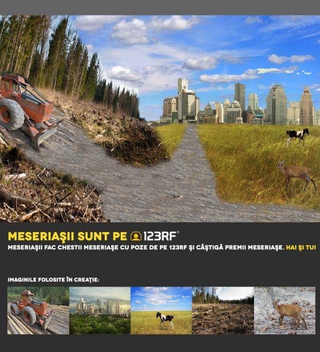 """""""Opriți distrugerea pădurilor"""" by  Ionut Tudor. Meseriasii sunt pe 123RF!"""