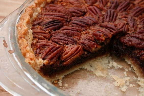 Bourbon Chocolate Pecan Pie....turned out incredible for Thanksgiving ...