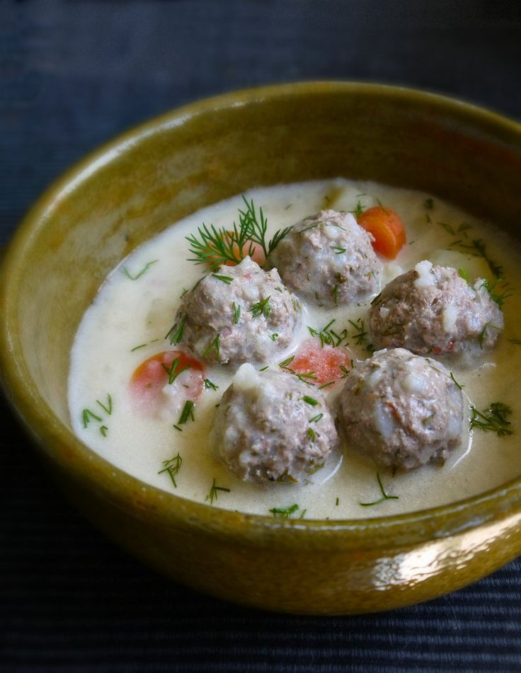 Yoovarlakia - Aromatic Greek Meatball Soup with egg/lemon sauce
