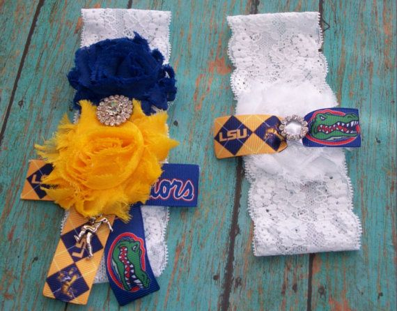 House Divided Florida Gators vs LSU by YourTreasuredMemory on Etsy