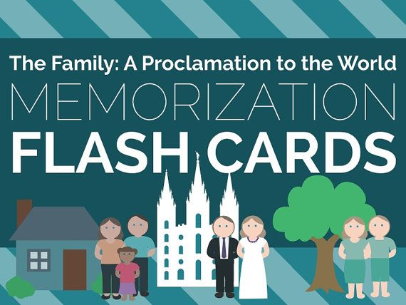 The Family: A Proclamation to the World Memorization Flash Cards