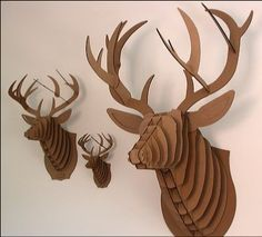 corrugated cardboard deer head - Google Search