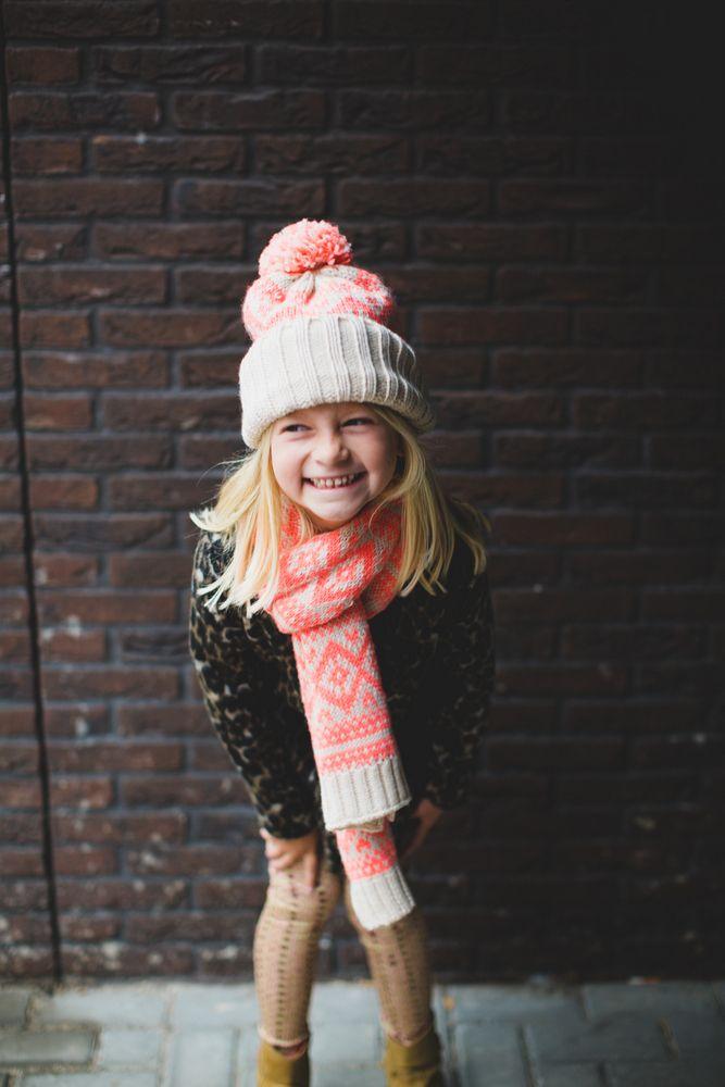 Kindermodeblog.nl stijlvolle meisjes kleding Little pieces sjaal en muts-11