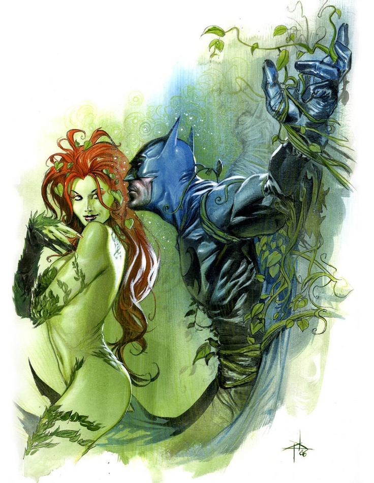 I want this tattoo on my lower leg. Poison ivy is my fav batman villian.