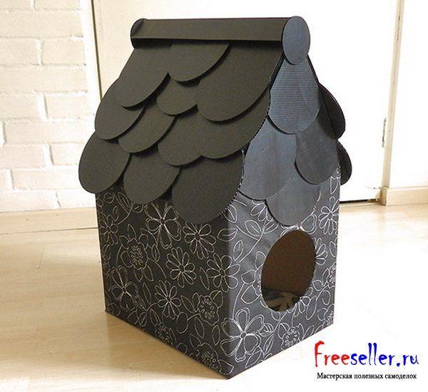 Домик для собаки из коробки. Интернет-магазин щенков