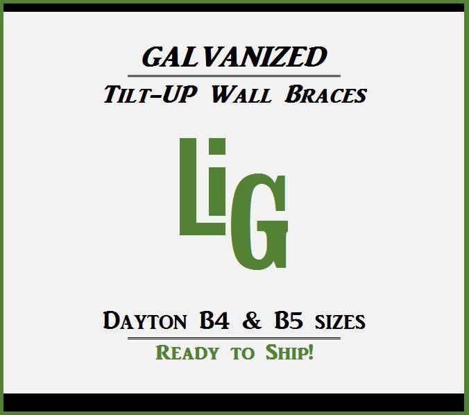 Dayton Superior B4 Amp B5 Precast Tilt Up Pipe Brace Sizes
