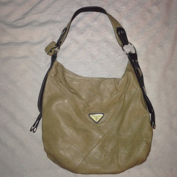 Authentic Leather Prada purse Light brown Prada purse still in great condition Prada Bags Shoulder Bags