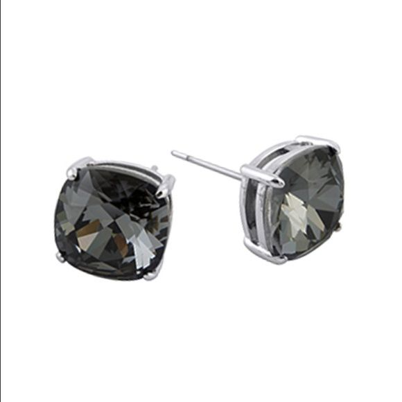 """Origami Owl Swarovski crystal earrings """"The Clara"""" stud earrings with Silver Night Swarovski Crystals. Hypoallergenic posts, nickel and lead free, approx. 3/8"""" diameter. Origami Owl Accessories"""