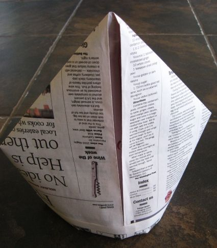Everyone has made the sailor newspaper hat but have you ever made the pope hat? =D