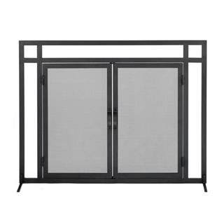 Check out the Woodfield 61235 Mission Style Black Wrought Iron Fireplace Screen with Doors priced at $191.00 at Homeclick.com.