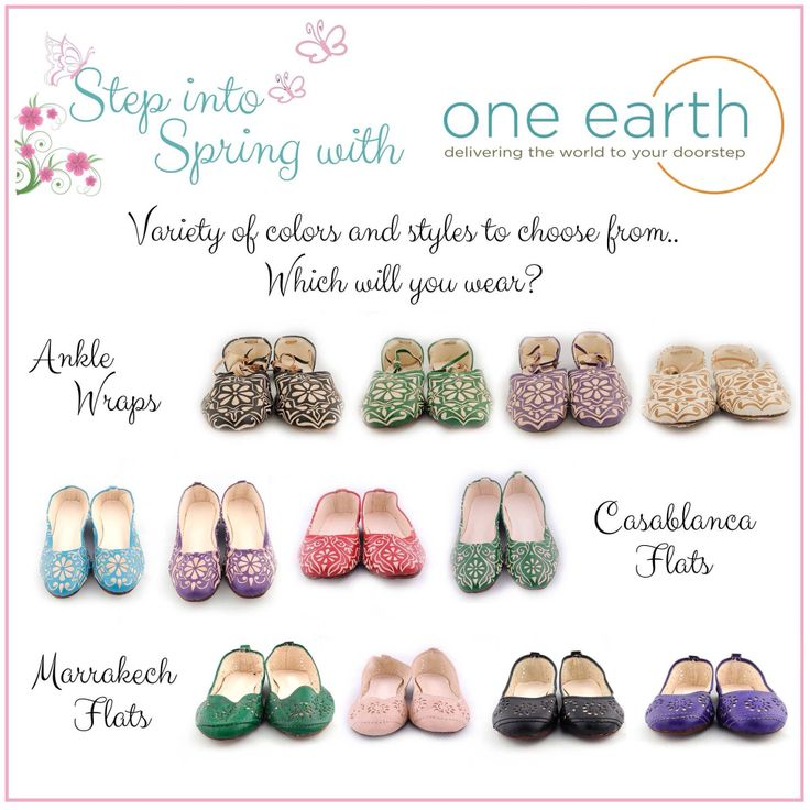Www.facebook.com/oneearthNewfoundland  #spring #shoes #flats #pretty #one1earth #morocco #artisans #handmade