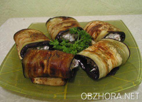 Горячие закуски из баклажан с сыром и ветчиной