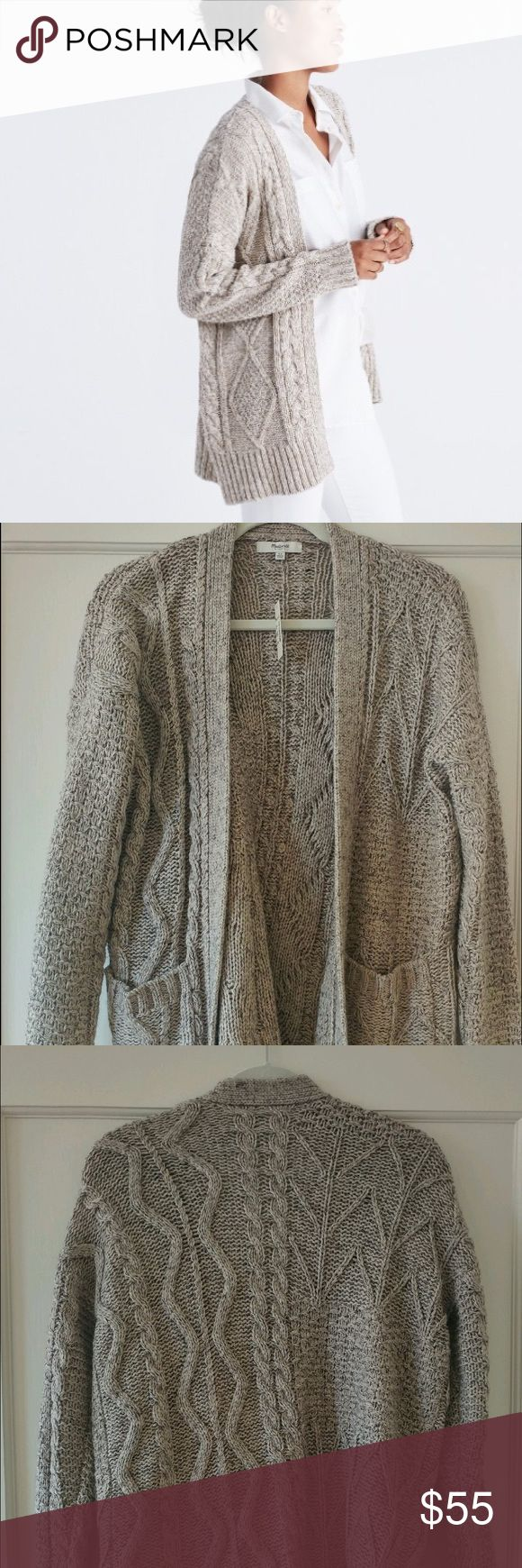 Madewell Chunky Cableknit Sweater Super cozy open cardigan from madewell. Sold out everywhere! Wear it with a neutral tee and leggings for the ultimate winter outfit. No tags but has never been worn. Madewell Sweaters Cardigans