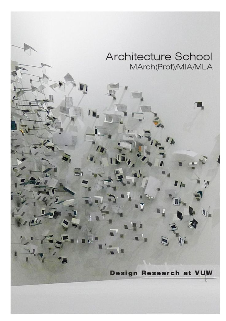 2012 Architecture School VUW  Design Research Catalogue