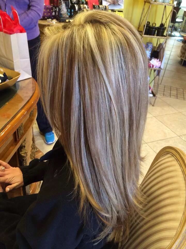 Cool Beautiful Highlight Lowlight Haircut Blowdry