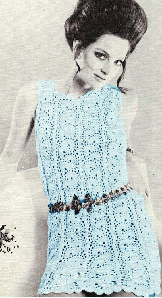 Patron pdf de tejido en crochet vestido de los por Liloumariposa