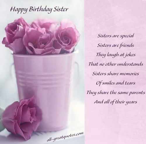 146 best images about BIRTHDAY SISTER – Birthday Greeting for Sister