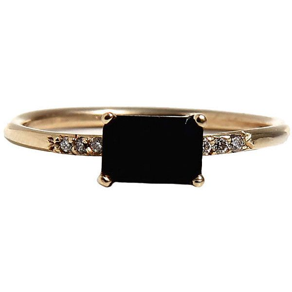 Golden Onyx Ring Stone & Novelty Rings (£325) ❤ liked on Polyvore featuring jewelry, rings, accessories, hand crafted jewelry, handcrafted jewelry, golden ring, onyx jewelry and onyx ring