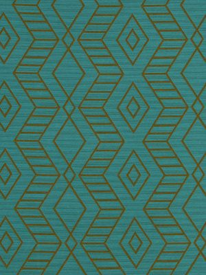 Turquoise Fabric - Geometric Upholstery Fabric - Turquoise Diamond Design - Heavyweight Fabric for Furniture - Chair Upholstery - Blue Decor