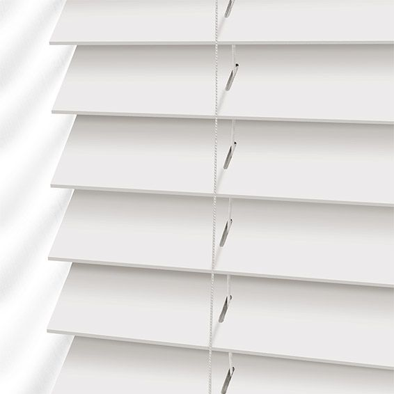 True White Faux Wood Blind - 50mm Slat from Blinds 2go