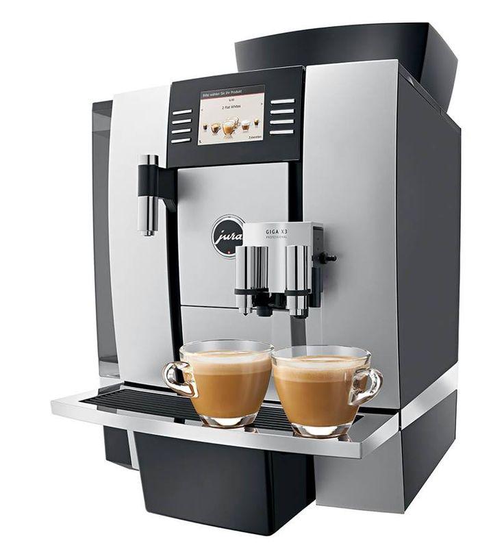 """Jura Giga X3 Professional - bardzo wydajny ekspres do kawy, który wybierany jest przede wszystkim do durzych biur, korporacji, przestrzeni """"open space"""". Jego wydajność wynosi aż do 5000 kaw miesięcznie."""