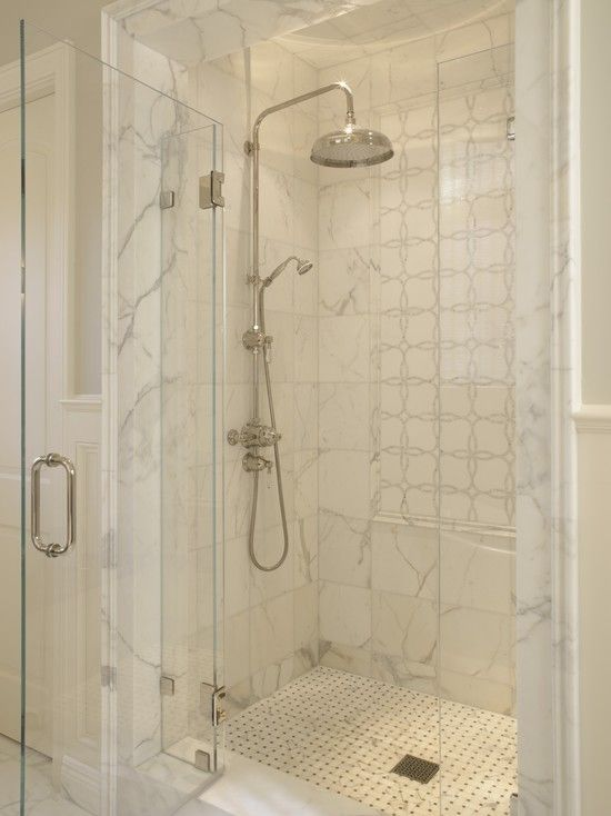 Suzie: SDG Architects - Fantastic shower with rain shower head, marble tiles shower surround ...