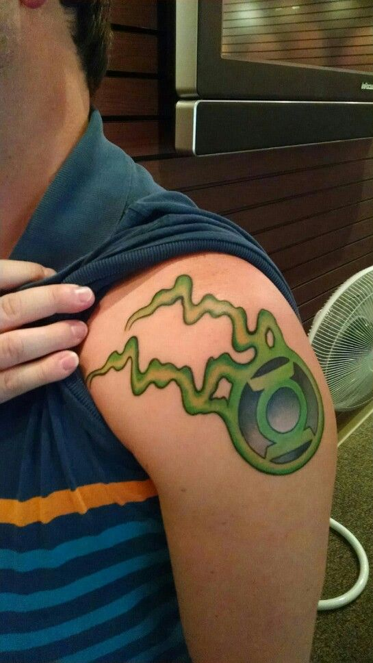 Awesome nerdy Green Lantern tattoo | tattoos | Pinterest ...