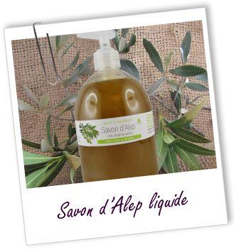 Savon Alep liquide à 15% d'huile de baies laurier Aroma-Zone
