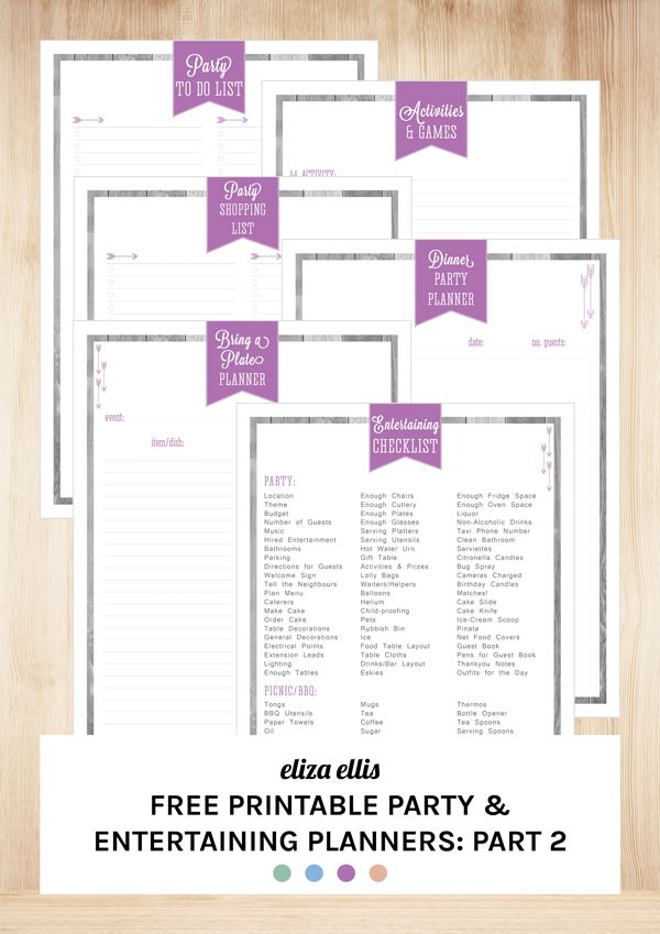 dinner party planner template