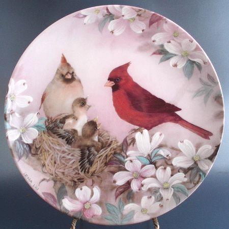 Lena Liu MORNING SERENADE Nature Poetry Collector Plate WS George