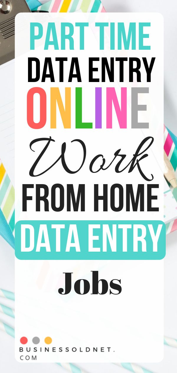 Part Time Data Entry Online Work From Home Data Entry Jobs