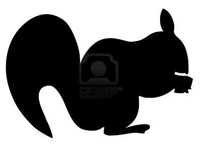 Een Zwart Silhouet Van Serie Van Dieren, Eekhoorn Royalty Vrije Cliparts, Vectoren, En Stock Illustratie. Image 11611588.