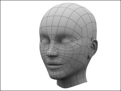 3D modeling a head in 3DS MAX