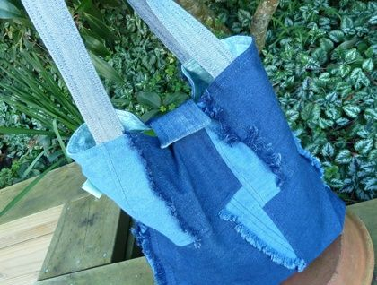 Boho Chic Denim Tote  Find me on swish.felt.co.nz