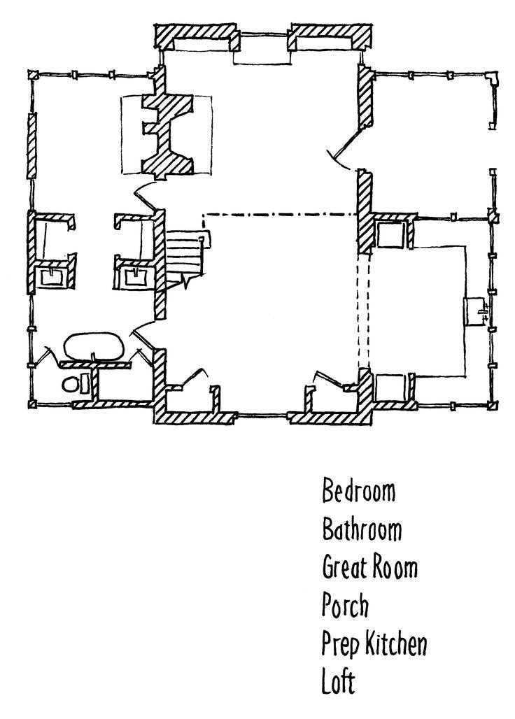 Cottage Kitchen Floor Plan