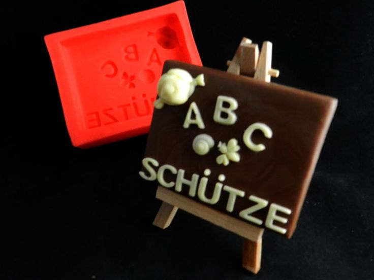 Schokoladengießform ABC-Schütze inkl.Staffelei von Luflom-Design auf DaWanda.com