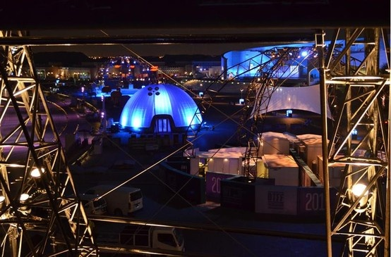 14m #NIGHTIME #IMPACTFUL  #Inflatable #Temporary #Structure #Events http://www.brandinteractivation.com/