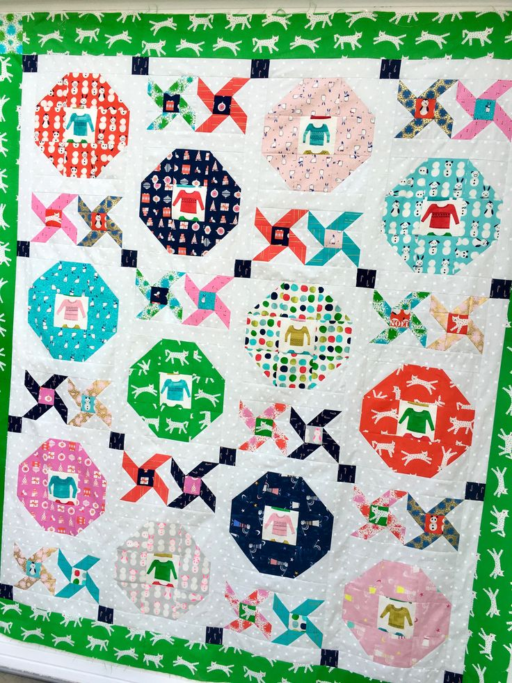 Christmas Party PDF Quilt Pattern - Cotton + Steel Noel Fabrics, Christmas Quilt
