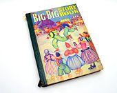 Big Big Story Book, Vintage Children's Book, 1941 Edition, Black Beauty, Heidi, Peter Pan, Hans Brinker, Whitman Publishing