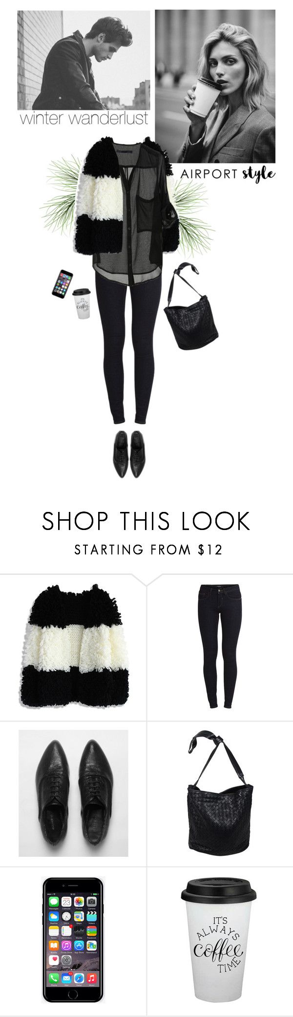 """my airport look"" by helena99 ❤ liked on Polyvore featuring Anja, Chicwish, Vila Milano, AllSaints, Bottega Veneta, Off-White, airportstyle and shaggysweater"