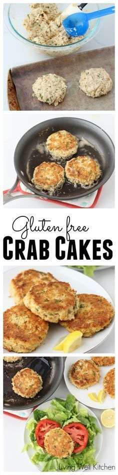 Gluten free Crab Cakes full of nutrients that promote healthy vision from Living Well Kitchen @memeinge