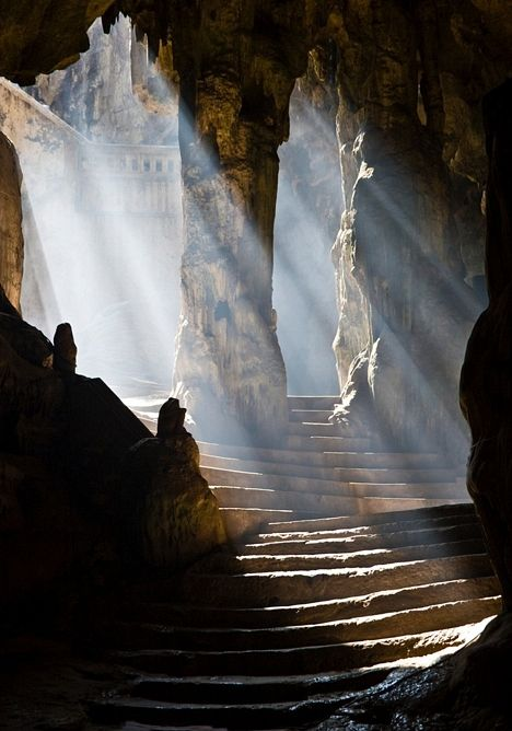 Khao Luang Caves, Phetchaburi (Phetburi), Thailand. A complex of three caves housing numerous Buddha images and pagodas