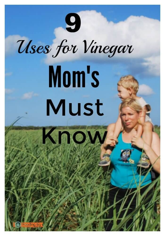 Cleaning with white vinegar is natural and healthy. 9 uses for vinegar Mom's must know. If you have little ones, you should read this