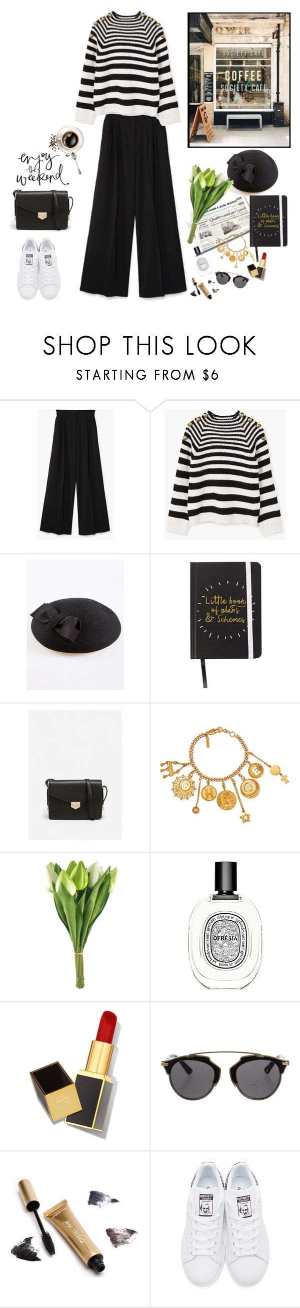 """""""Weekend ready"""" by nadi ❤ liked on Polyvore featuring MANGO, Pronto Moda, Chloé, Diptyque, Tom Ford, Christian Dior, Jane Iredale and adidas Originals"""